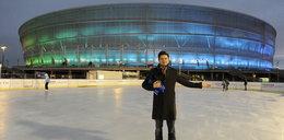 Przyjdź na lodowisko przy stadionie!