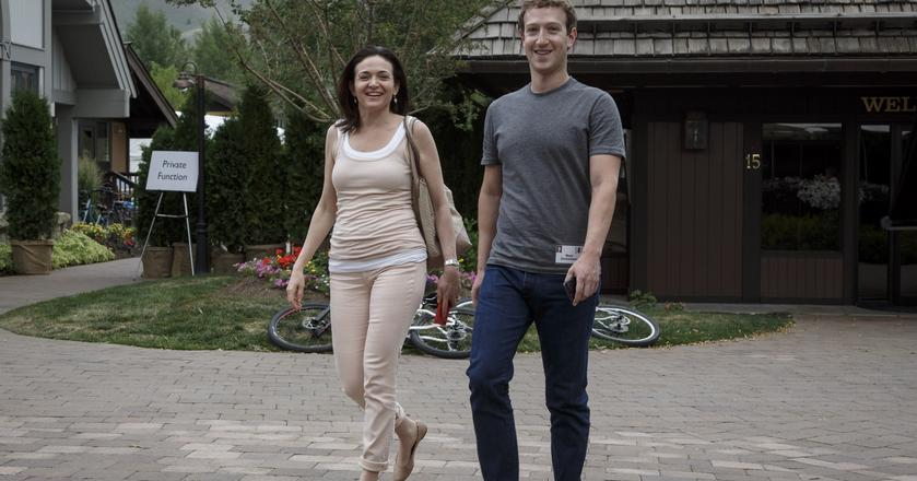COO i CEO Facebooka: Sheryl Sandberg i Mark Zuckerberg