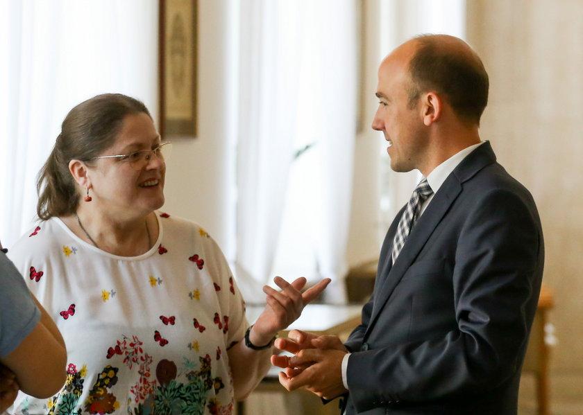 Krystyna Pawłowicz i Borys Budka