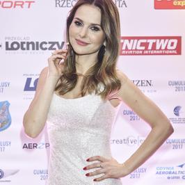 Paulina Sykut-Jeżyna cała na biało na rozdaniu nagród