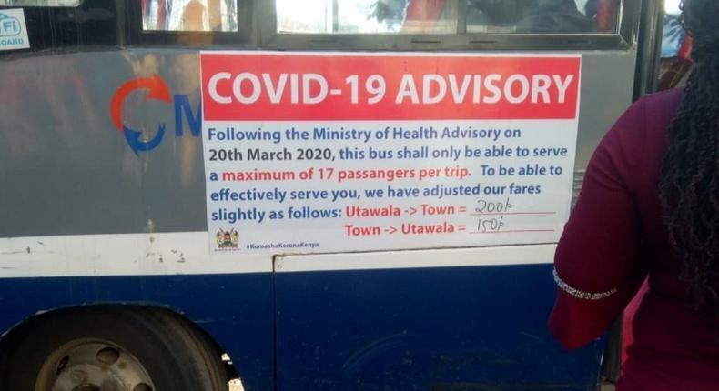 Overcharging, overloading - crisis in Nairobi as Matatus effect social distancing rules against Coronavirus pandemic