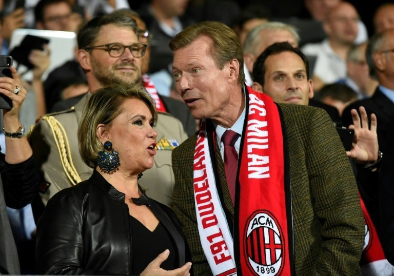 Royal backing: the Grand Duke and Duchess of Luxembourg were in attendance as Dudelange hosted seven-time European champions AC Milan