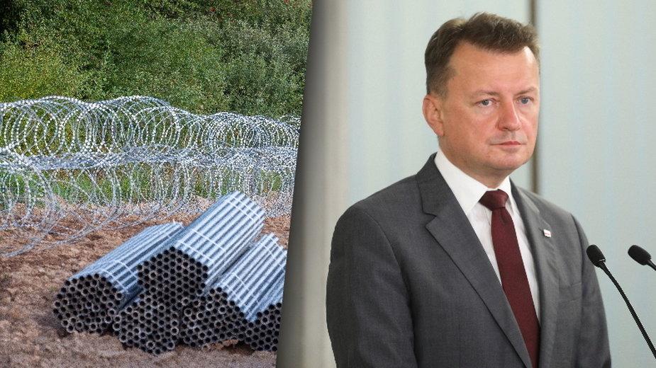 Drut kolczasty na granicy z Białorusią. Jest zawiadomienie do prokuratury na ministra Błaszczaka