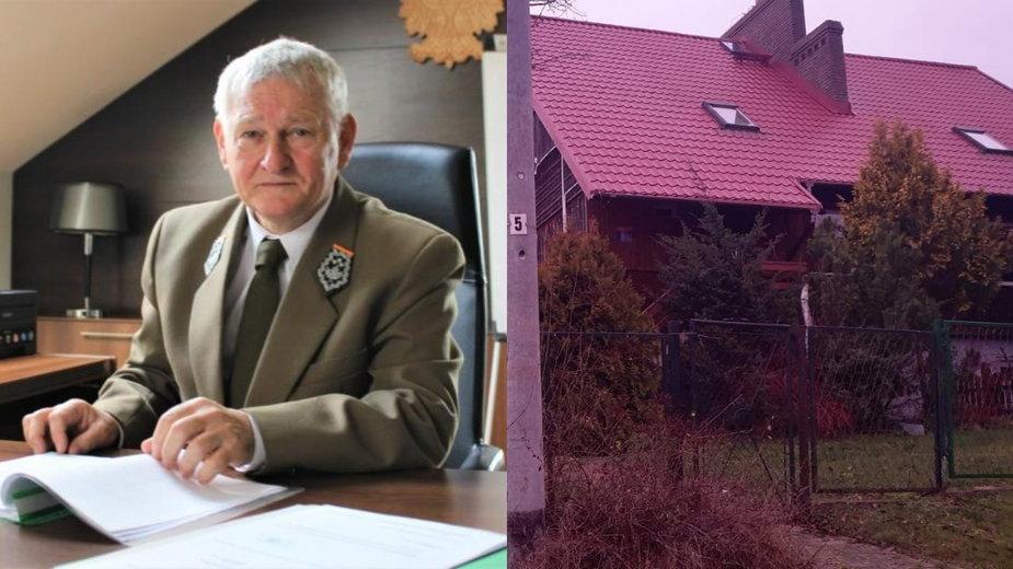 Dyrektor generalny Lasów Państwowych Józef Kubica i dom zakupiony przez poprzedniego szefa lasów
