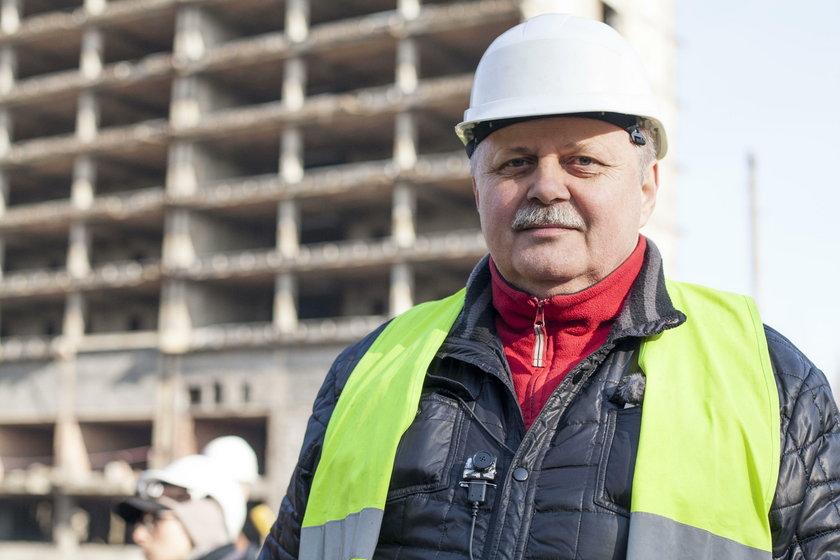 Krzysztof Dymek, kierownik rozbiórki