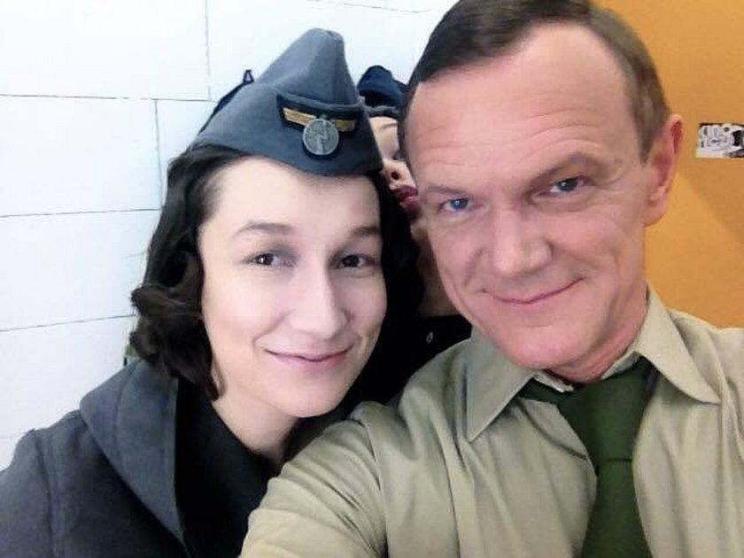 Cezary Pazura z córką w serialu