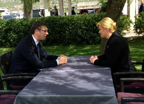 Aleksandar Vučić i Kolinda Grabar Kitarović