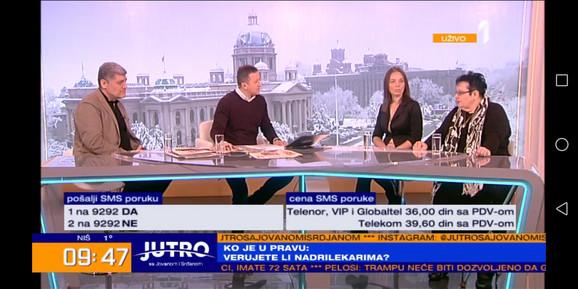 Miroljub Petrović i sestra preminulog mladića jutros u TV studiju