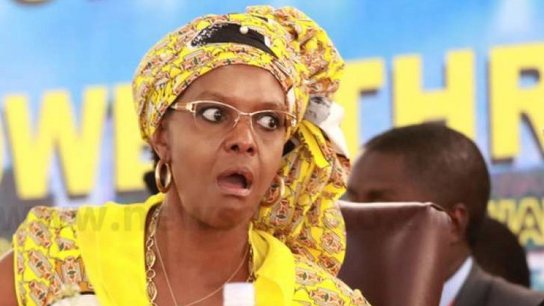 Grace Mugabe, the wife of former Zimbabwean ruler Robert Mugabe