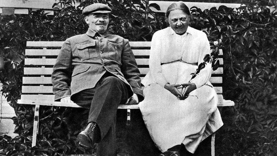 Włodzimierz Lenin i Nadieżda Konstantinowna Krupska, 1922 r.