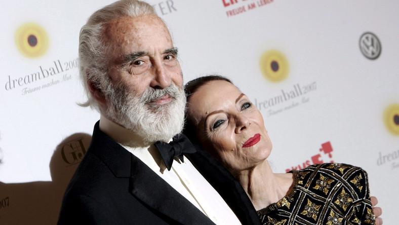 Christopher Lee z żoną Birgit Kroencke
