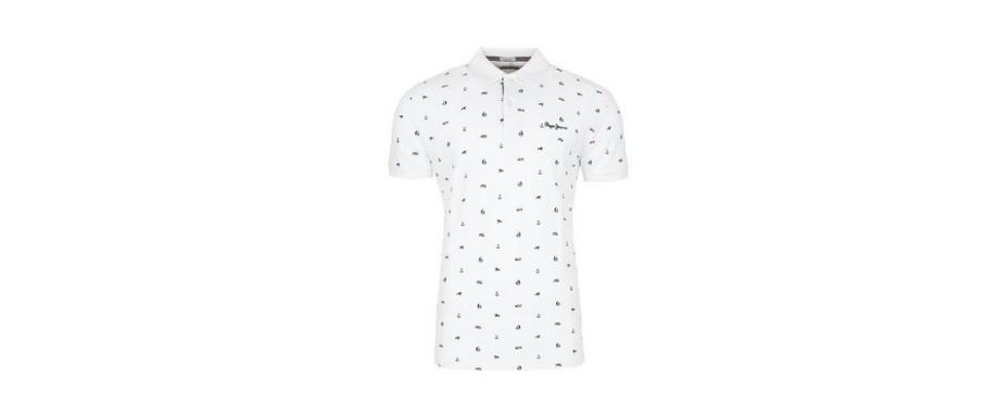 Koszulka polo - PEPE JEANS Sergio Optic White