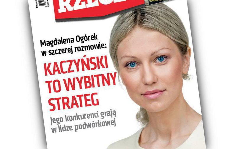 Magdalena Ogórek na okładce do rzeczy