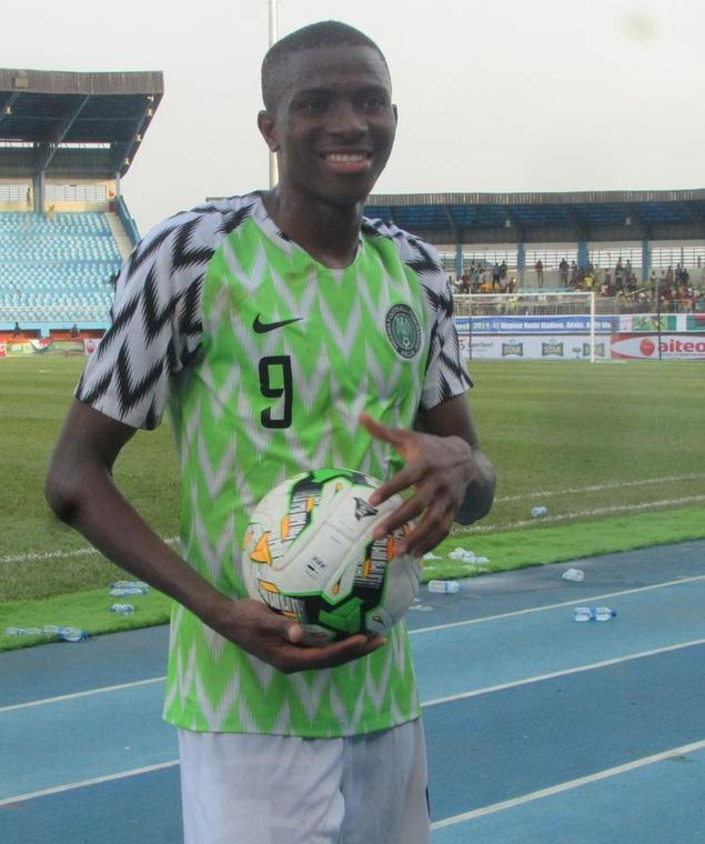 Victor Osimhen netted a hattrick in Nigeria's 4-0 win over Libya on Monday  (Twitter/Wale Quadry)