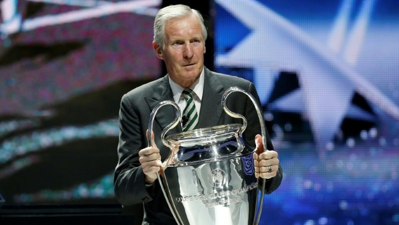 Billy McNeill, who has died aged 79, with the Champions League trophy on August 29, 2013
