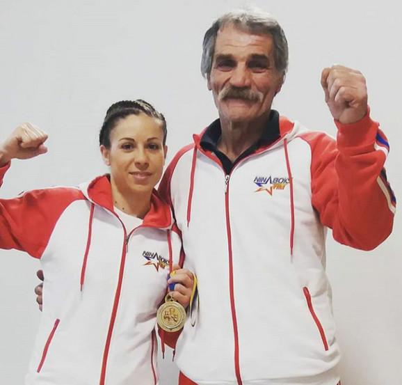 Nina Radovanović i njen trener Jovan Tamindžić