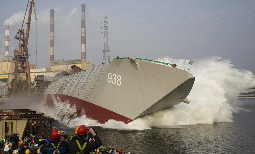 Wodowanie żaglowca w gdańskiej stoczni