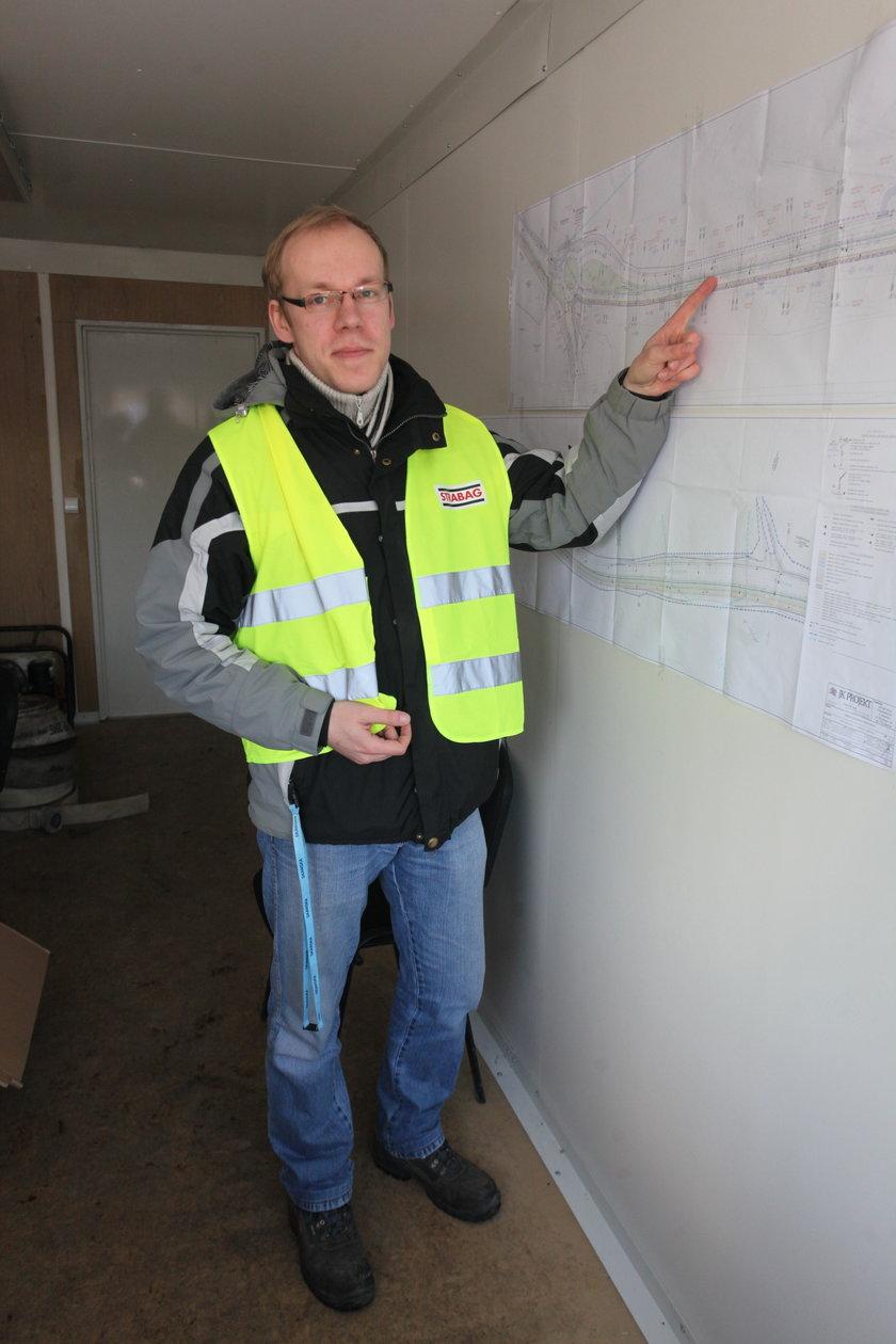 Krzysztof Klinkosz, inżynier budowy z firmy Strabag