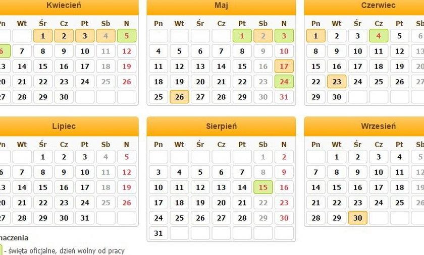 kalendarz swiat
