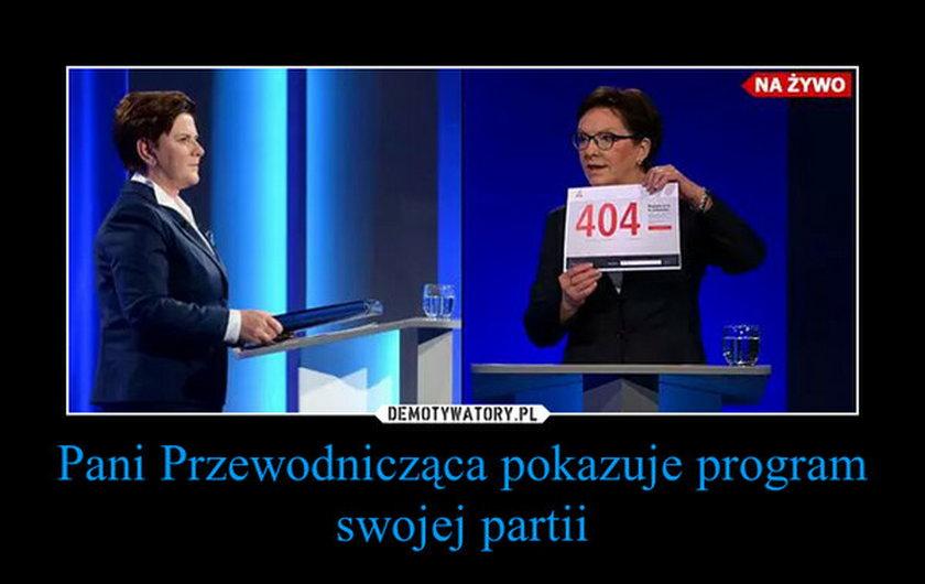 Memy z debaty Kopacz - Szydło