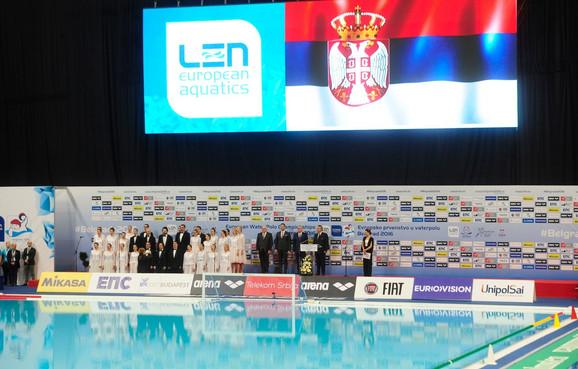 Ceremonija svečanog otvaranja prvenstva Evrope u vaterpolu
