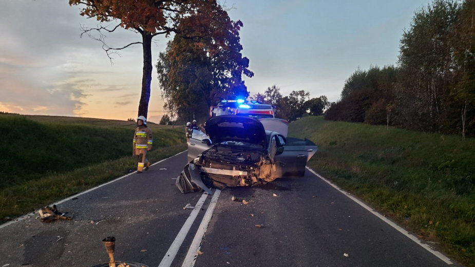 Wypadek drogowy pod Barczewem. Zginęły dwie kobiety
