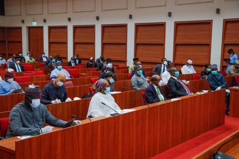 Illustrative photo of a senate hearing session [Twitter/@DrAhmadLawan]