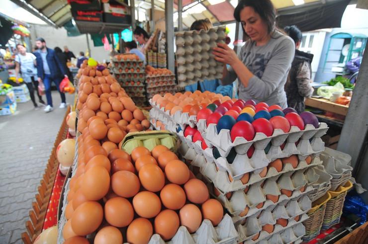 Uskršnja jaja na pijaci u Novom sadu