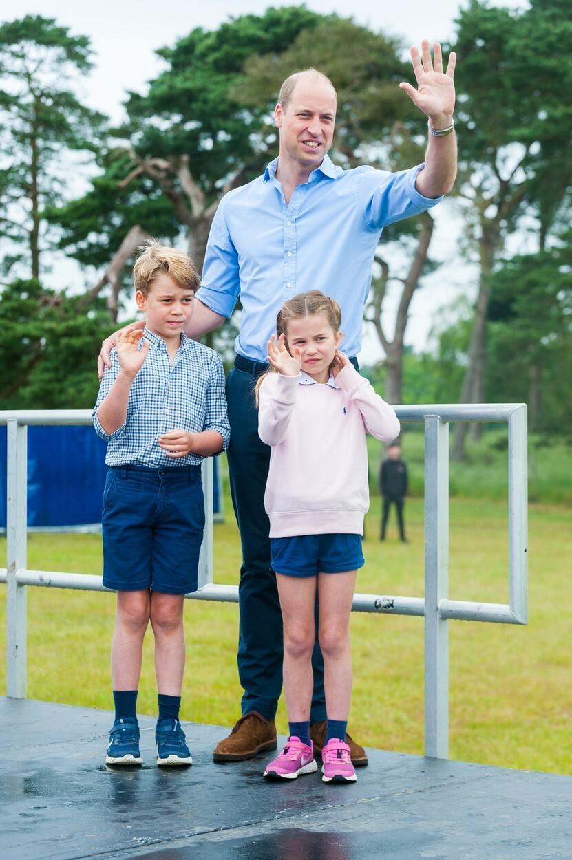 Prince William with Prince George and Princess Sarolta