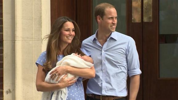 Kejt i Vilijam sa princezom Šarlot
