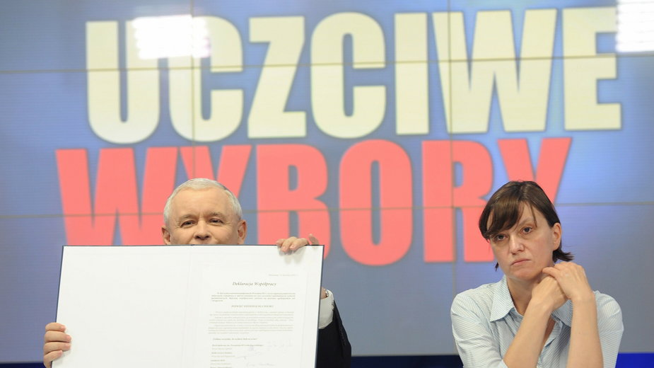 Ewa Stankiewicz i Jarosław Kaczyński (2011)