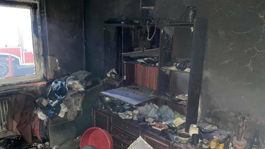 Spalony dom fot. OSP Świniary