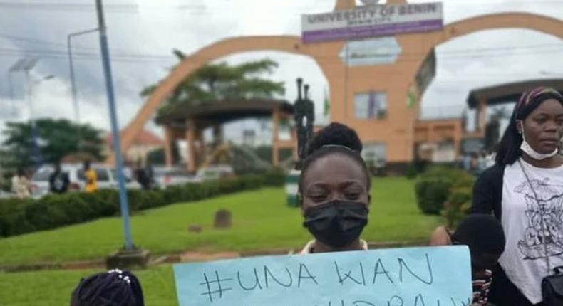 UNIBEN students protest [TheCable]