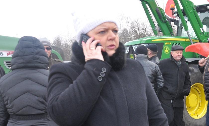 Renata Beger na blokadzie