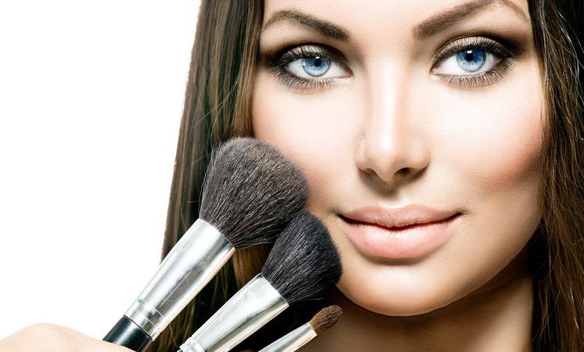 Kobieta, makijaż, twarz, portret