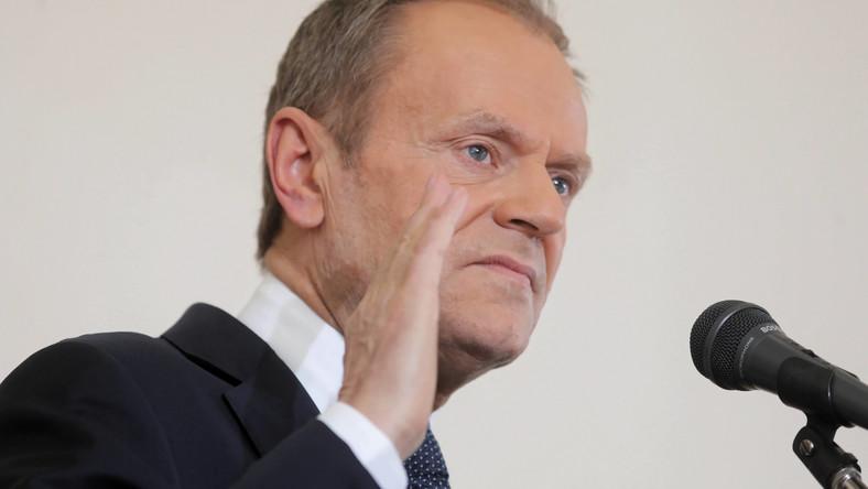 Przewodniczący Europejskiej Partii Ludowej Donald Tusk