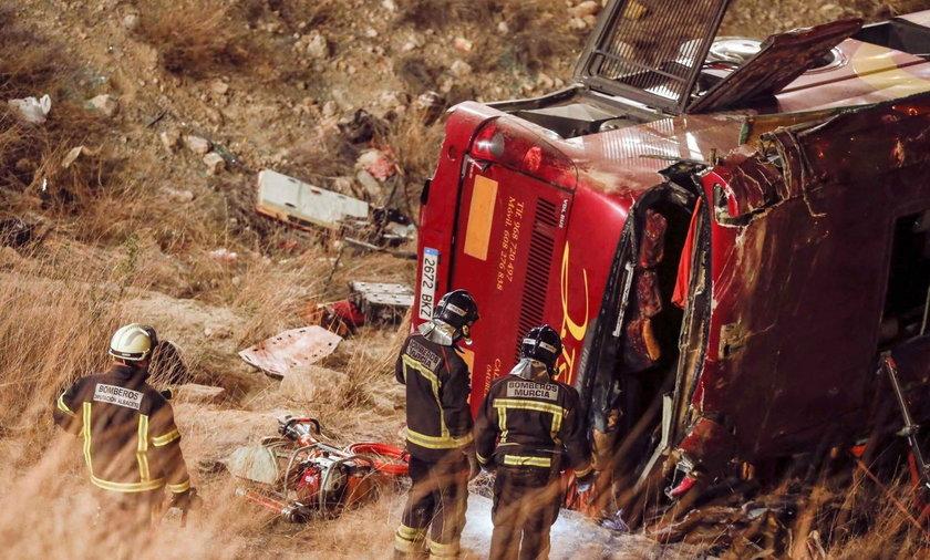 autokar wypadek hiszpania