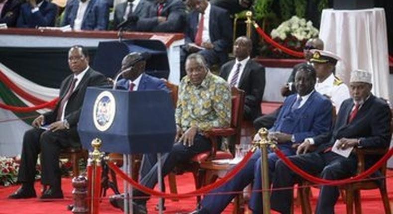 President Uhuru Kenyatta and former Prime Minister Raila Odinga extends term of BBI Taskforce