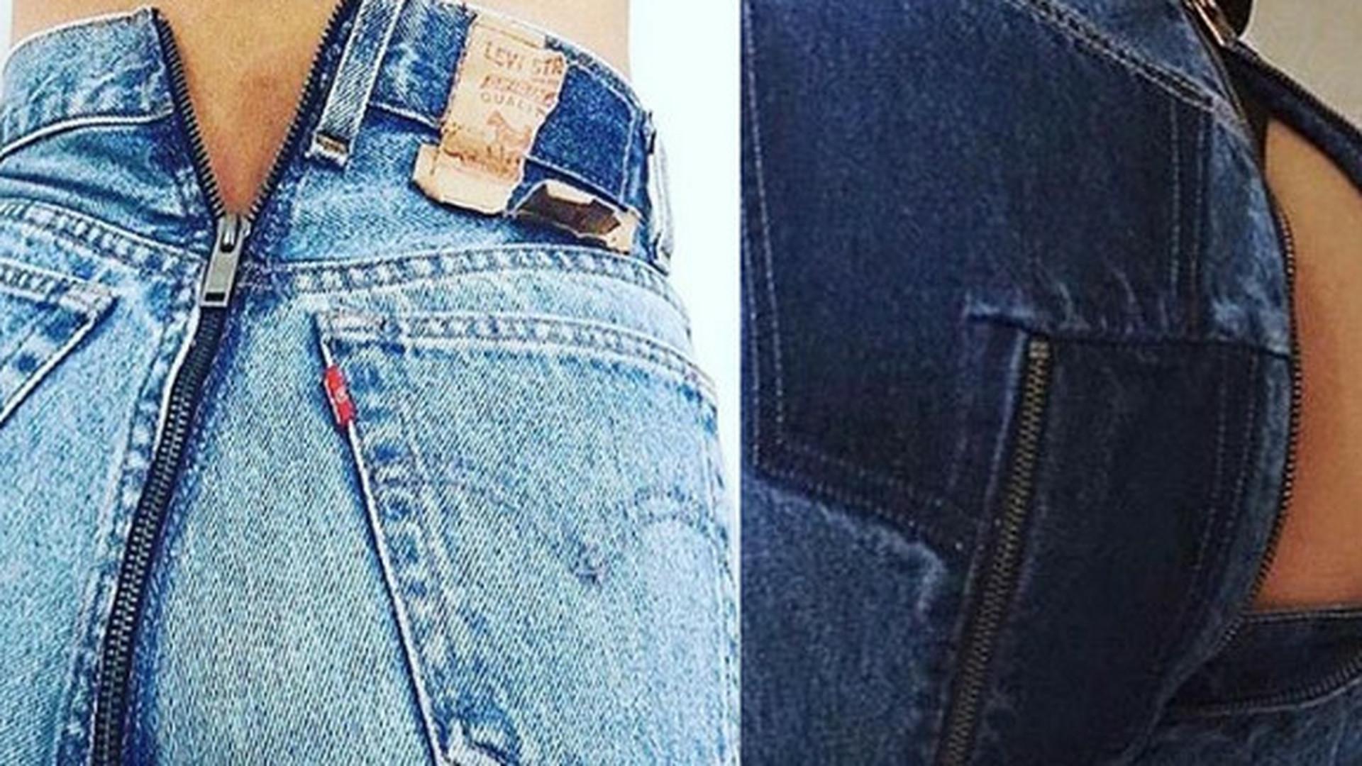 bb3224a6 Spodnie z suwakiem na pupie od Vetements i Levi's - Noizz
