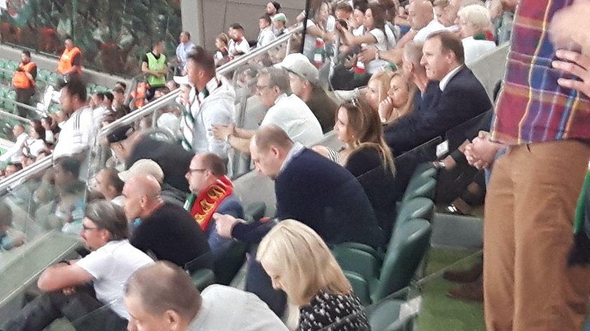 Jacek Kurski na trybunach w czasie meczu Legii