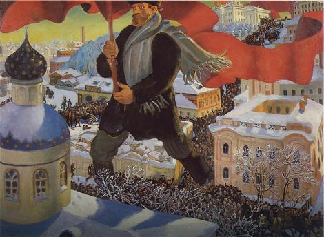 """""""Boljševik"""", slika Borisa Kustodieva iz 1920."""