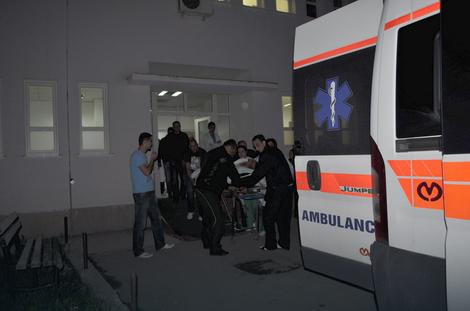 Prebacivanje povređenih iz bolnice u Pljevljima za KBC Podgorica