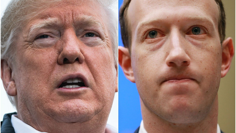 Donald Trump Mark Zuckerberg