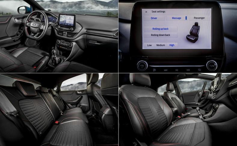 Ford Puma jako pierwsza w klasie oferuje masaż pleców kierowcy i pasażera