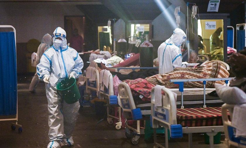 Sytuacja epidemiologiczna w Indiach jest ciężka.