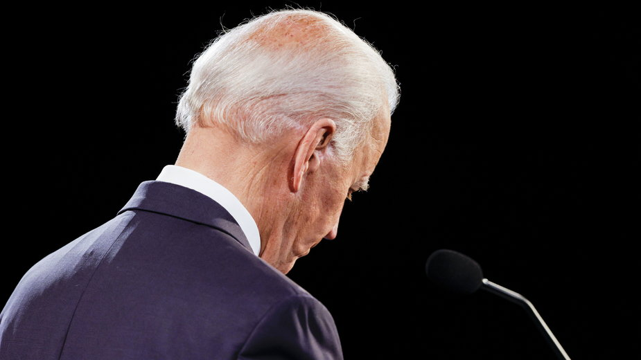 Joe Biden podczas ostatniej debaty prezydenckiej