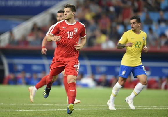 Luka Jović na meču protiv Brazila na Svetskom prvenstvu