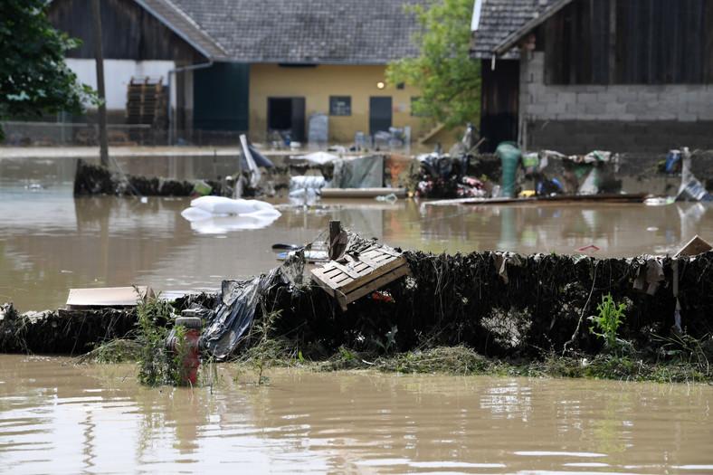 Powódź w Łapanowie