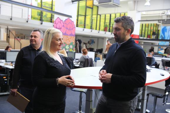 Predsednica SIM Ivana Jovanović i glavni i odgovorni urednik