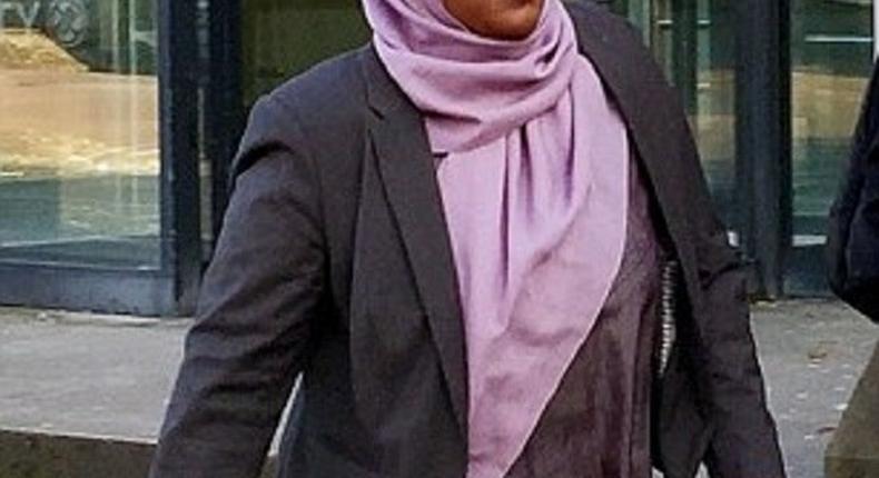 Dr Hadiza Bawa-Garba walking to the court